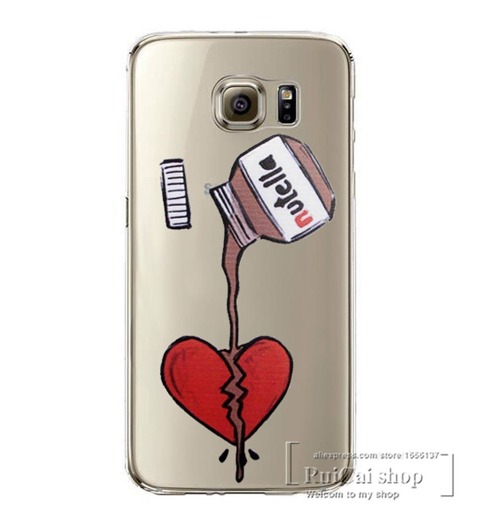 Cute Nutella Wallpapers Cute Tumblr Nutella Design Clear Case Cover For Samsung