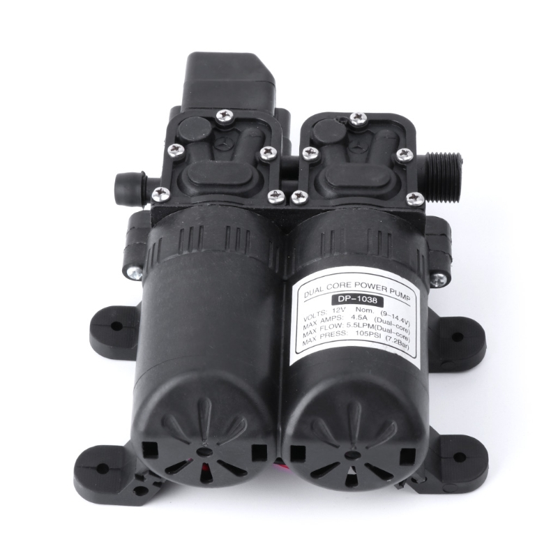Dual Core Power Water Pump DC 12V Auto High Pressure Diaphragm Water Pump For Boat Caravan Marine Motor Pump