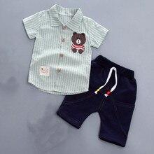 AJLONGER Boys Set Summer New Baby Clothes Boy Fashion Short Sleeve Shirt + Shorts Sets 2 pieces Children Clothing Suit