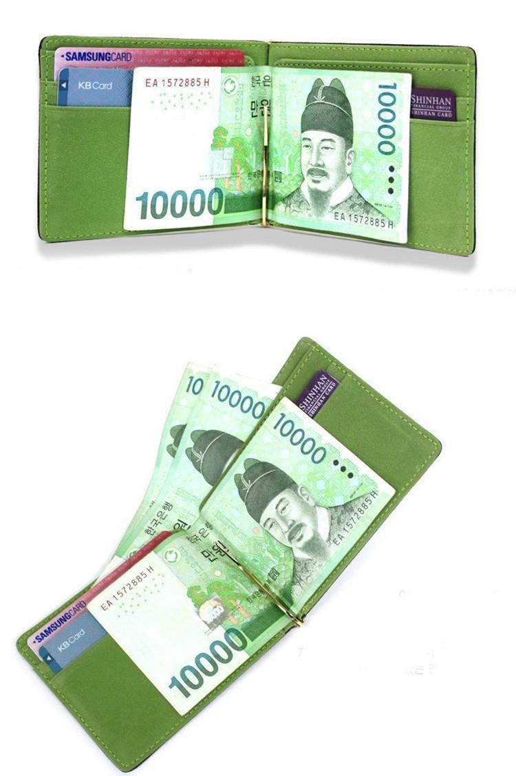 Õhuke rahakott sularahaklambriga