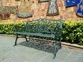 3 pessoa antigo banco do parque de luxo durável cadeira de jardim em alumínio fundido de boa qualidade para o exterior