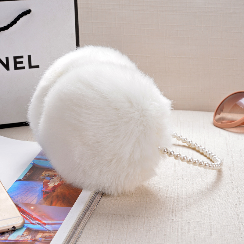 Fashion Warm Rabbit Fur Earmuffs Autumn Winter Women Warm Earmuffs Christmas Gifts Multicolor 1 PCS