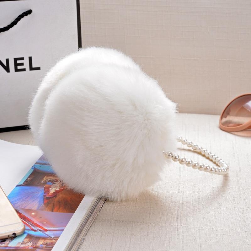 Fashion Warm Rabbit Fur Earmuffs Autumn Winter Women Warm Earmuffs Christmas Gifts Multicolor 1 PCS