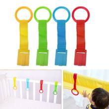 1PC Baby Bed Portable Crib Stand Up Multi-color Wake Up Hook Pull Ring Foldable Pendants Toys(China)