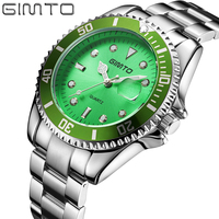 GIMTO Top Brand Creative Men Watch Luxury Silver Steel Male Calendar Business Watches Big Dial Cool