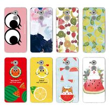 Fruits eye Oil Painting watermelon Soft TPU Phone Case For huawei P10lite P10 plus P8 P9 honor 6A 3C 4c 7 8 9 5a 5c C081(China)