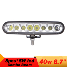 """1 Pc 1800ML 40W High Power Waterproof LED Offroad Work Light 6.5"""" Driving Light With 8pcs 5W LED For Car SUV Boat Truck 12v 24v"""