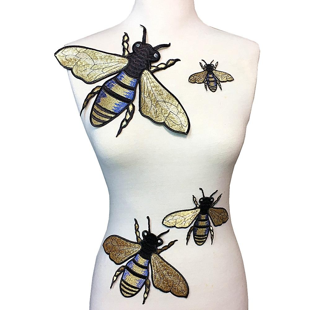 Conjunto de 4 gran bordado remiendo de la abeja Bordado abejas ...
