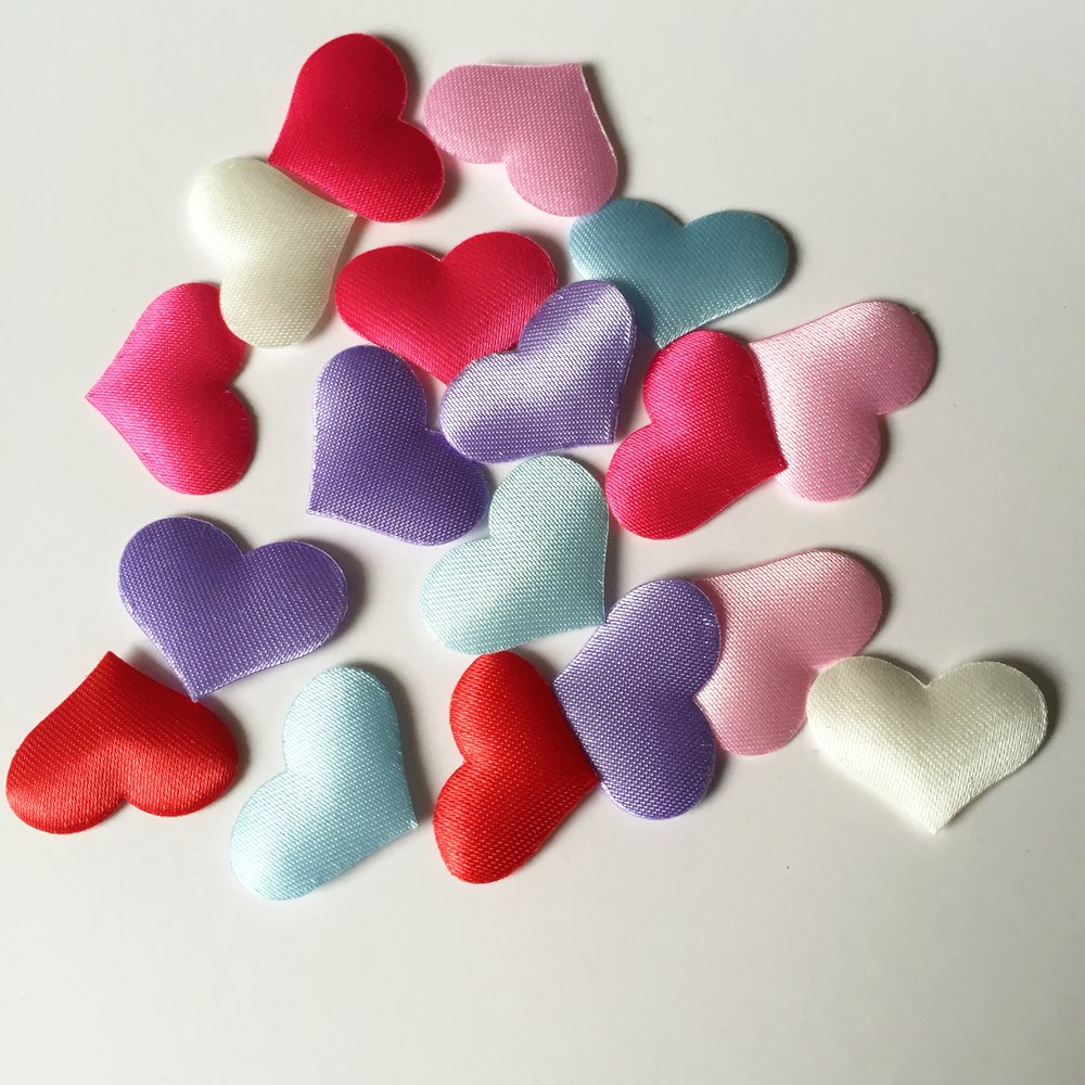 300pcs 20mm Padded Felt Heart Applique/Sewing/wedding decoration/Trim DIY A07*3