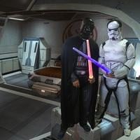 Star Wars Cosplay Storm Trooper Darth Vader Anakin Skywalker Children Cosplay Muscle Costume Halloween Costume For
