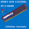 Настольных памяти пожизненная гарантия для ADATA DDR3 4 ГБ 1333 мГц PC3-10600U 1333 4 г оперативной памяти компьютера 240PIN оригинальной аутентичной