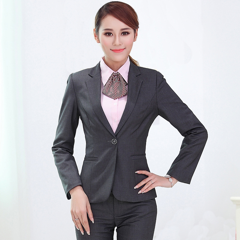 Nuevas Pants Color Abrigos Piezas Mujer Conjunto Para Blazer nIPqxx7
