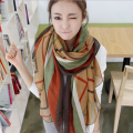 New 2015 winter wild voile female sunscreen oversized geometric stripe printed scarves  womens celiness 170*80cm