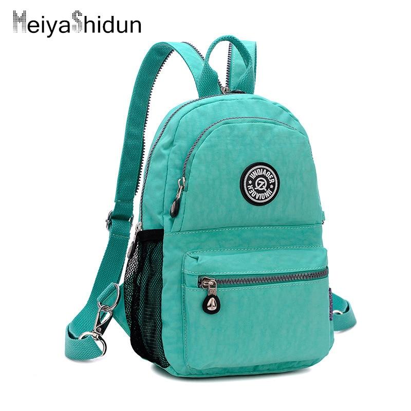 Waterproof Nylon mini Backpack Women small Backpacks Female School Bags For Teenage  Girls travel Shoulder Bag Mochila Escolar 532297a5c6