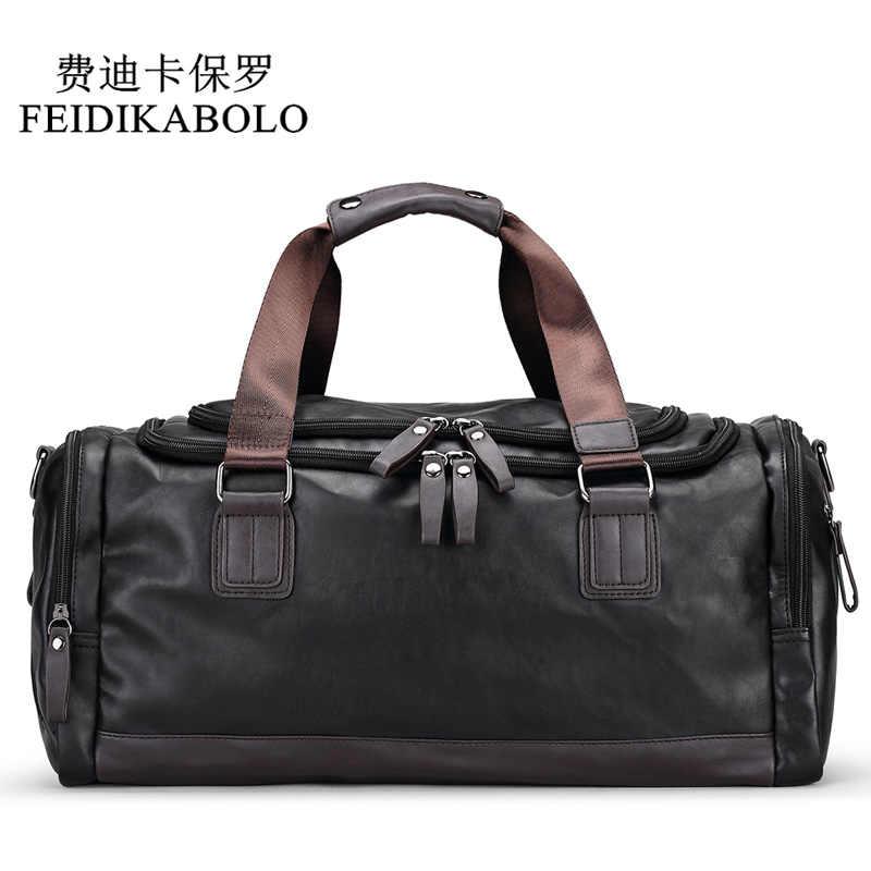 FEIDIKABOLO Design Leather Men Bag Men s Fashion Travel Bags Package Men  Large-Capacity Portable Shoulder 3d8c61e03055d