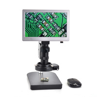 USB TF Card AIO Microscope Camera Android System 5.0MP 9''Screen Tablet Digital Microscope Camera+Table Stand+100X C mount Lens