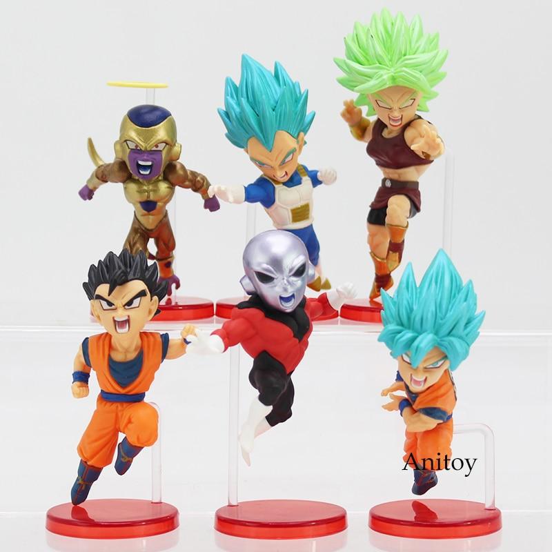 Dragon Ball Super vol.9 Super Saiyan God Super Goku Vegeta Kale Frieza Son Gohan Jiren Action Figures with Retail Box 6pcs/set