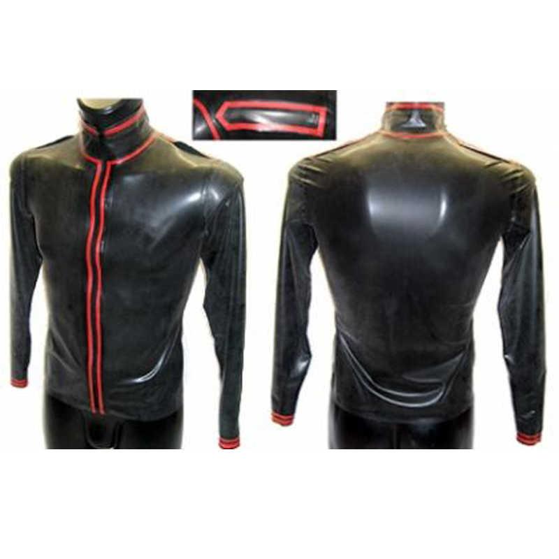 Латексная рубашка резиновый плащ куртка с длинными рукавами 100% ручной работы латексная верхняя одежда для мужчин индивидуальное изготовление