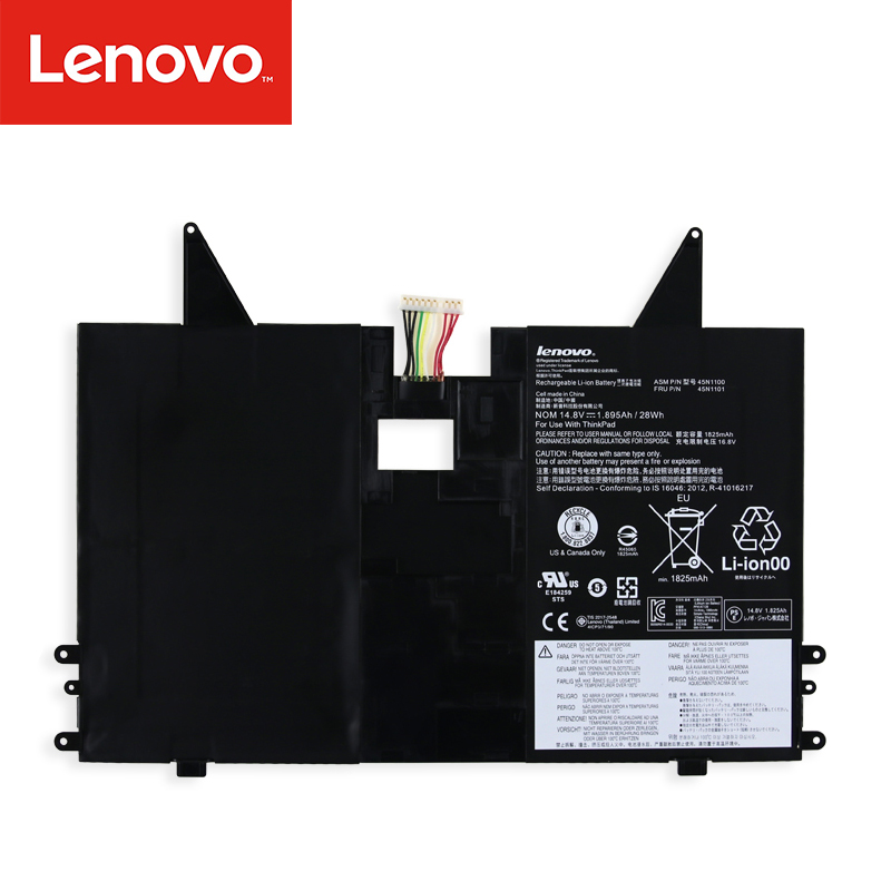 Genuine 45N1100 battery for Lenovo thinkpad X1 Helix Tablet PC 45N1100 45N1101 battery 41CP3/71/90 цена