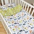 3 unids baby bedding set ropa de cama cuna kit niños de algodón recién nacido ropa de Cama Cubierta Del Edredón Funda de almohada Sin Relleno de Nubes pino