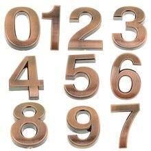 1 Набор бронзовых дверных номеров для дома, номера дверей в гостиничных комнатах, наклейки для офиса, номера адресов, таблички для свадебной вечеринки, самодельные Украшения