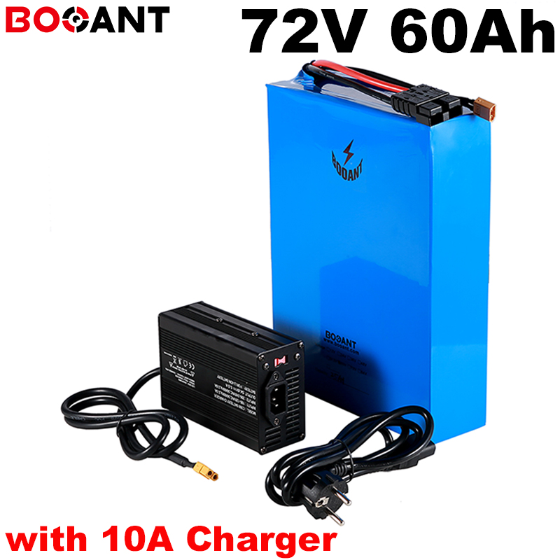 20S 20P <font><b>72V</b></font> <font><b>60Ah</b></font> Rechargeable Electric bike Lithium <font><b>Battery</b></font> <font><b>72V</b></font> 9000W E-bike <font><b>battery</b></font> for Samsung 30Q 18650 cell with 10A Charger image