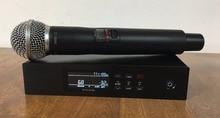 Высокое качество QLXD4,UHF Цифровой Беспроводной, микрофон, диверситивные одного ручной микрофон с полета чехол для Горячая распродажа!