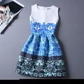 2016 Vestido de Verão Das Mulheres Estilo Vintage Impresso Vestidos de Festa Sexy Plus Size Feminina Roupas Maxi Boho Bodycon Robe PRDRS01H