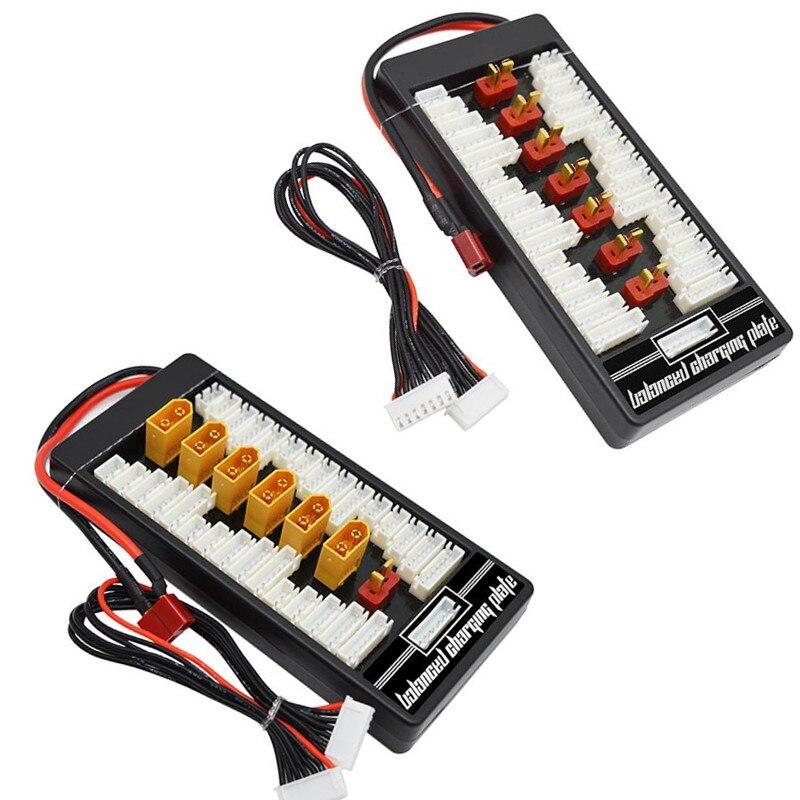 Batería Lipo paralelo carga equilibrada tablero T enchufe XT60 Plug RC batería de litio placa 40%