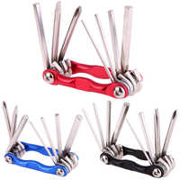7 in 1 Portable Bicycle Folding Hex Wrench for MTB Bike Road Bicycle Screwdriver Repair Tool Set Bicicleta Cycling Bike Tools