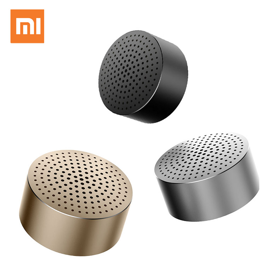 Original Xiaomi Mi Bluetooth Speaker Stereo Portable Wireless Speakers Mini Mp3 Player Music Speaker Hands-free Calls getihu portable mini bluetooth speakers wireless hands free led speaker tf usb fm sound music for iphone x samsung mobile phone