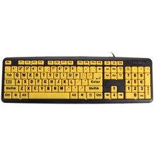 USB teclado de letras Grandes Ancianos botón Amarillo