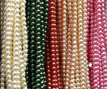 "Coffee Round Glass 6mm Beads 32"" * color glass imitation pearl beads!Loose glass pearl for DIY jewelry !(China)"
