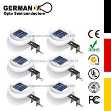 Solar Gutter Lights, Lighting Outdoor 9 LED Fence Light Waterproof Security Lamps for Eaves Garden Landscape Pathway