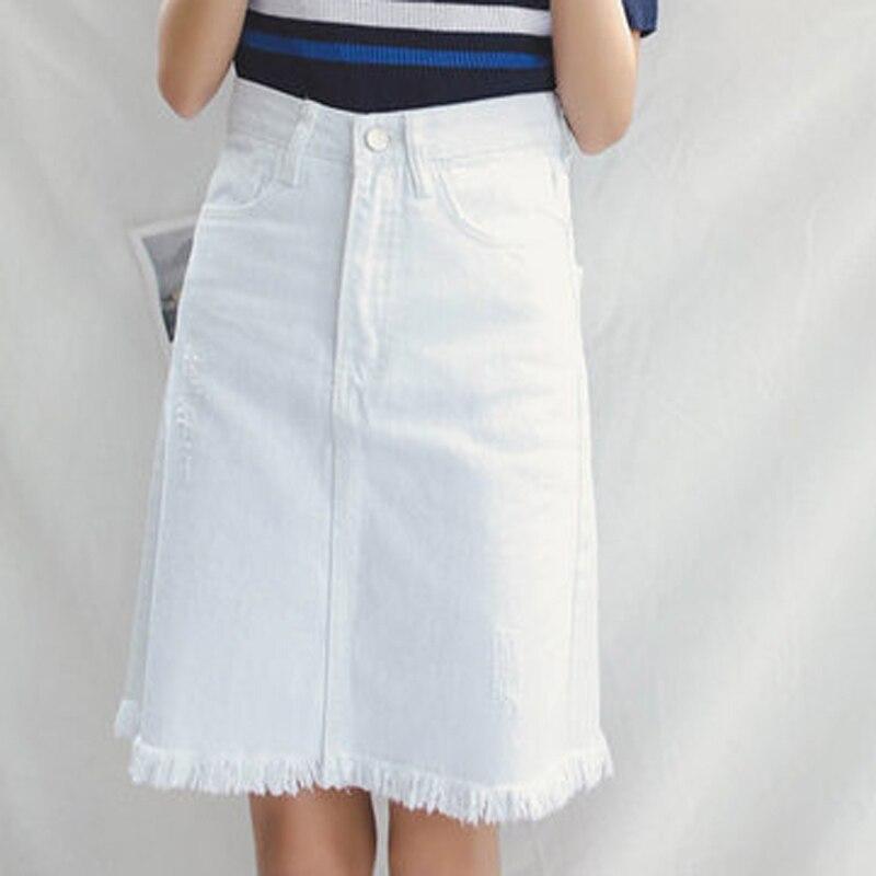 Popular Blue Jean Skirts for Women Knee Length-Buy Cheap Blue Jean ...