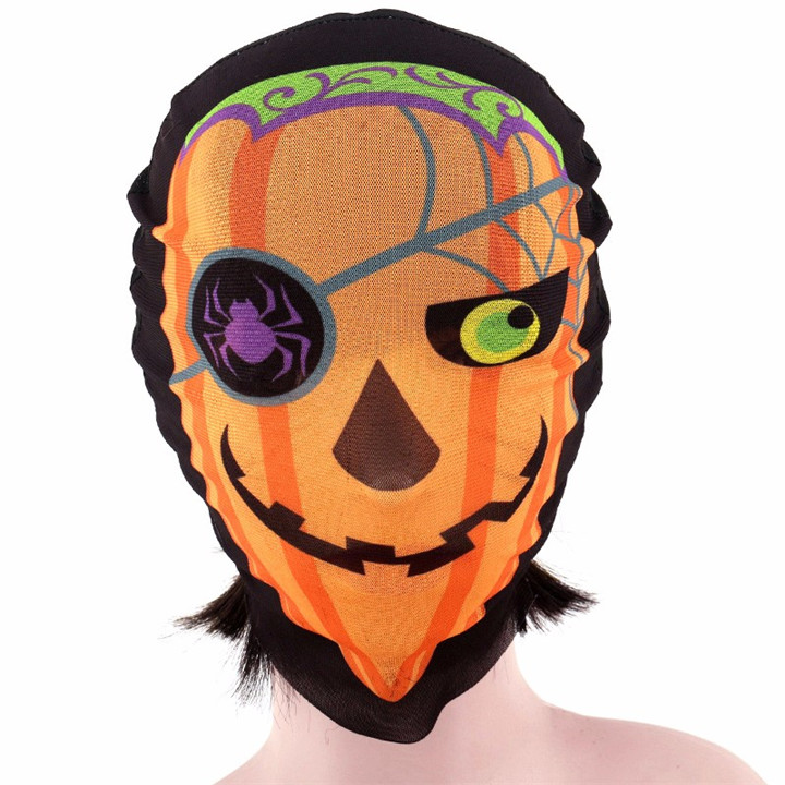 5 Full Face Halloween Fabric Skull Mask For Women Sexy Party Mask Scary Cosplay Headgear Masquerade Mask For Men Party Decorations