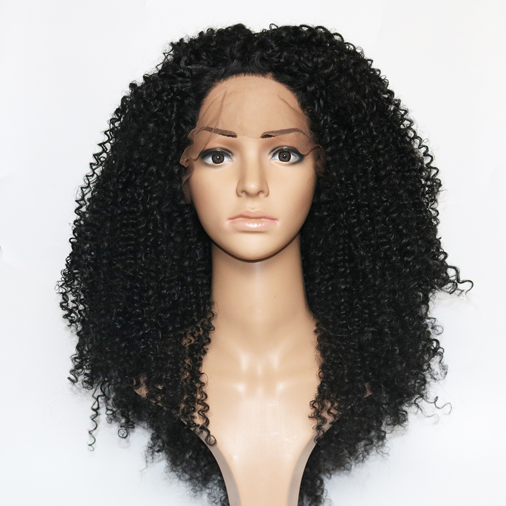 Fantasy Beauty Cheap Heat Resistant Lace Front Wigs For Women Afro Kinky Curly Lace Wigs Fiber Heavy Density Black Pre Plucked