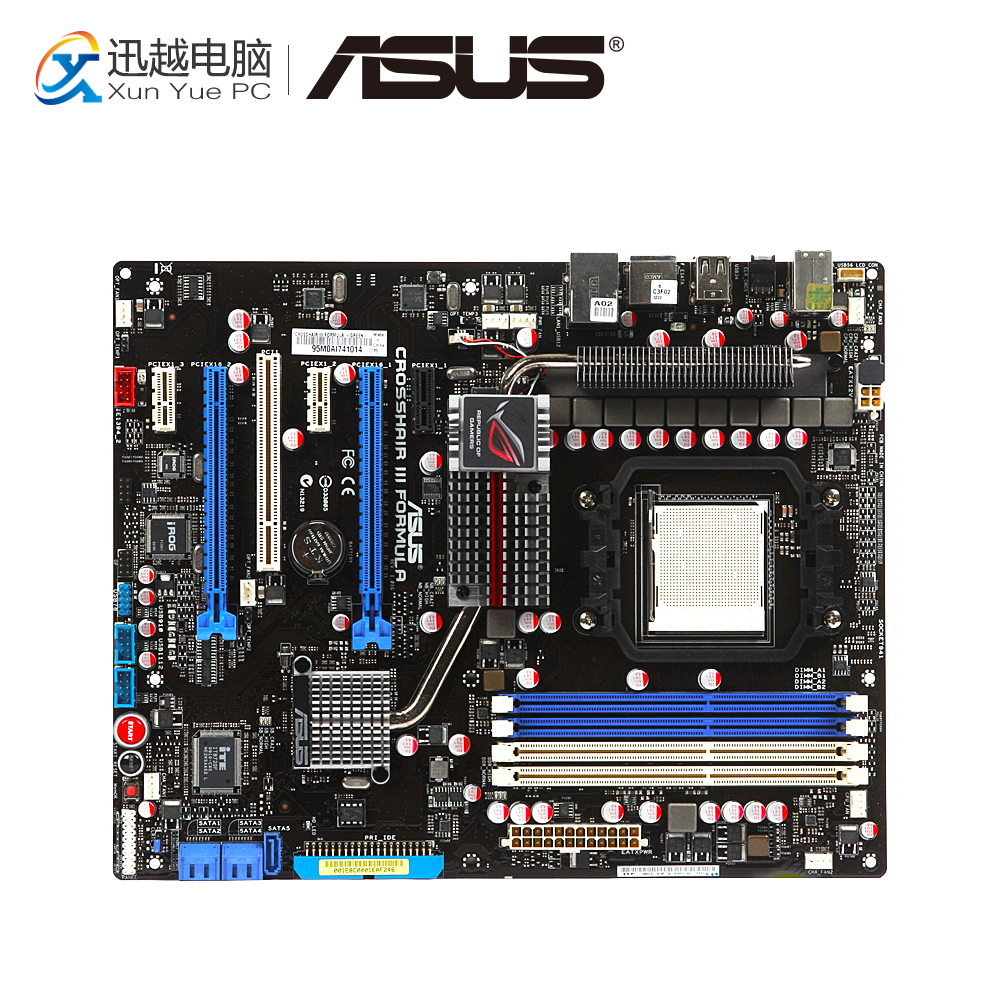 Asus Crosshair III Formula Desktop Motherboard AMD 790FX Socket AM3 DDR3 USB2.0 ATX asus crosshair iv extreme desktop motherboard 890fx socket am3 ddr3 sata3 usb3 0 atx