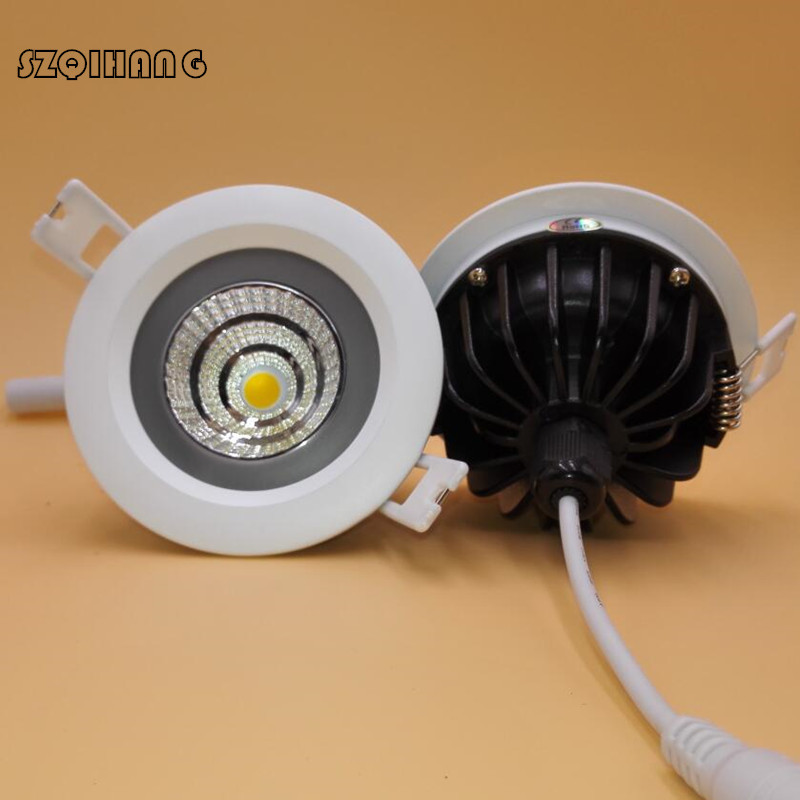 IP65 Waterproof COB LED Downlight 12W 15W Warm Cold White Waterproof Recessed Ceiling Spot Light For Bathroom 4pcs/lot