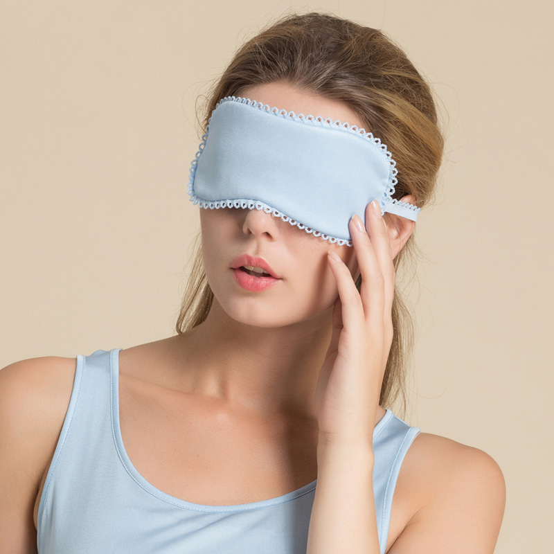 100%Natural Silk Eye-mask Sleep Blinder Breathable Healthy Soft Sleep Eye Comfortable Fabric Candy Colors Elastic Band
