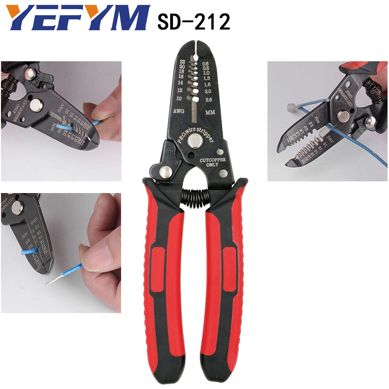 Pliers Hand Tools Multifunction Pliers Ye-1 Cable Cutter Stripper Crimper Terminal Automatic Electrical Pliers Self Adjustable Brand Tools