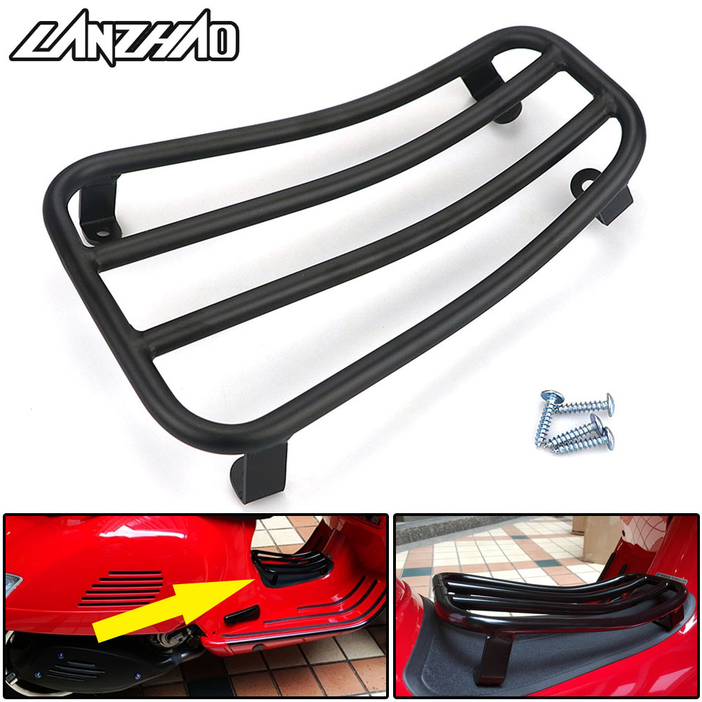 Motorcycle Foot Rest Luggage Rack Case Shelf Holder Black for Piaggio Vespa Sprint Primavera 150 2017 2018 2019 Accessories-in Foot Rests from Automobiles & Motorcycles    1