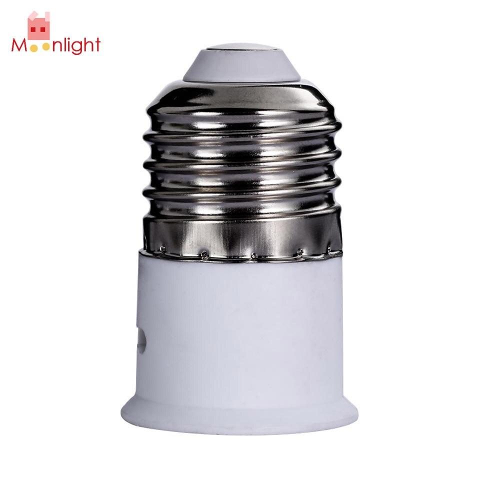 E27 to B22 Screw Lamps Base Converter Lamp Holder Light Bulb Socket Converter Bayonet Cap to Edison Screw Lamp Holder Converter