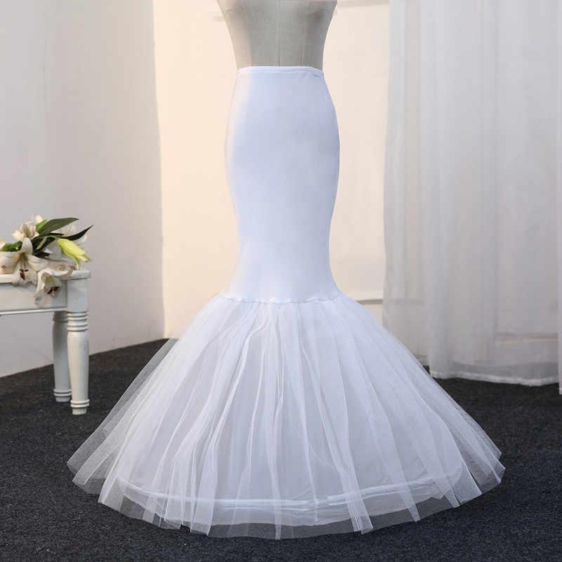 Livraison gratuite sirène jupon 1 cerceau os élastique robe de mariée Crinoline 2019 mariée jupon pas cher