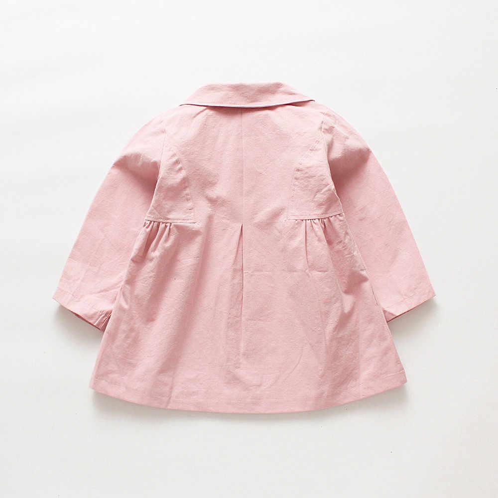 Младенцы Малыши Дети девочка лук куртка Верхняя одежда Топы Повседневная одежда пальто Детская куртка manteau bebe fille