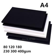 Новинка 80-400gsm высокое качество A4 черно-белая крафт-бумага сделай сам ручная работа для изготовления карт крафт-бумага плотная бумажная доска картон