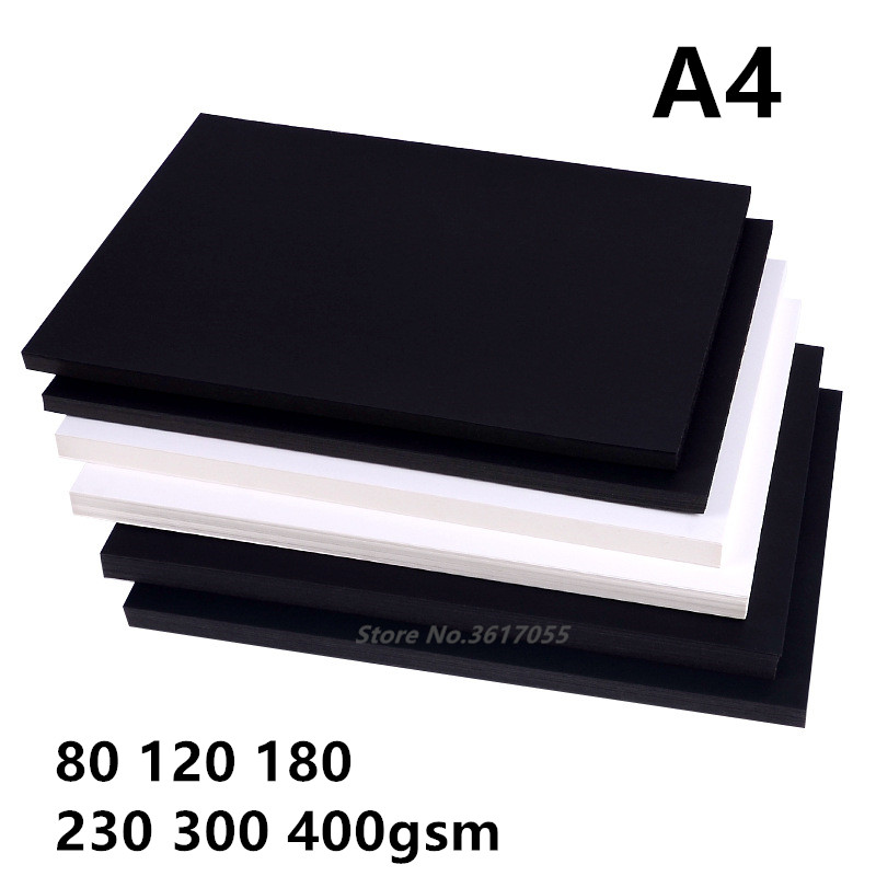 New 80-400gsm High Quality A4 Black White Kraft Paper DIY Handmake Card Making Craft Paper Thick Paperboard CardboardNew 80-400gsm High Quality A4 Black White Kraft Paper DIY Handmake Card Making Craft Paper Thick Paperboard Cardboard