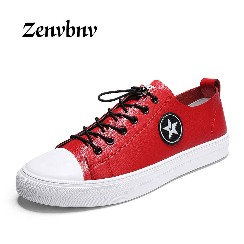 ZENVBNV 2018 Men Shoes Brand Casual Shoes Men Fashion Male sneakers Shoes Red Black Hot Sale New Comfortable Men Casual Shoes