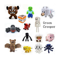 2016 New 16-26CM Minecraft Plush Toys Green Zombies Enderman Batman JJ Strange Sheep Mooshroom Animal Stuffed Kids Toys
