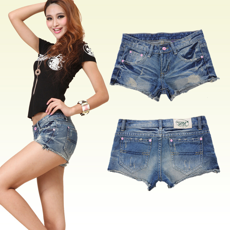 2015 Hot Frayed Waist Denim Shorts  Female Tide Wa...
